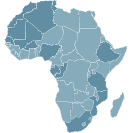 mobilisation internationale africa, map